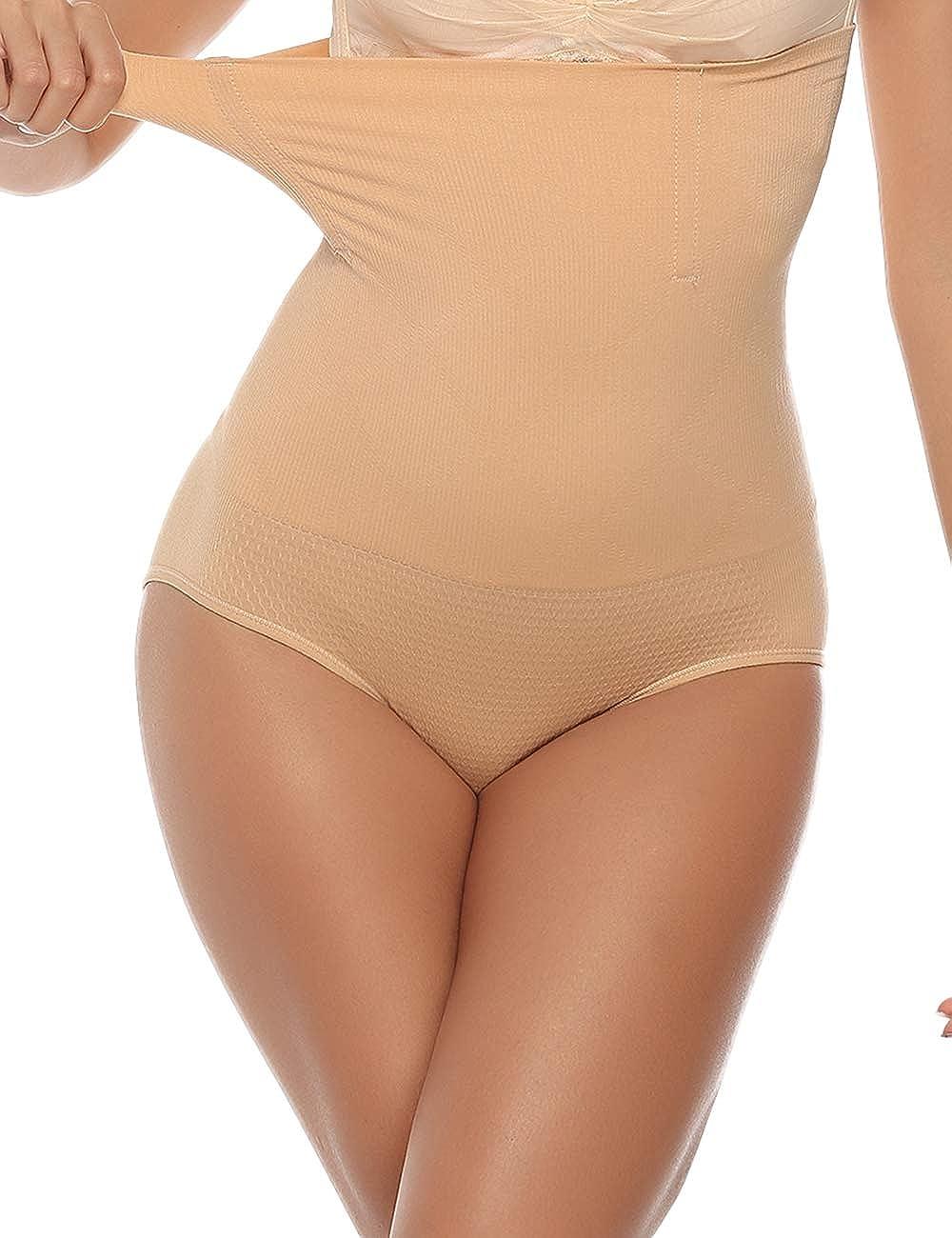 Abollria Miederpants Damen Figurenformend Miederhose Miederslip Shapewear Bauch Weg Stark Body Shaper optisch schlankere Silhouette