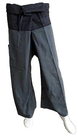 Amazon.com: Papaya tienda Thai Pescador pantalones de yoga ...