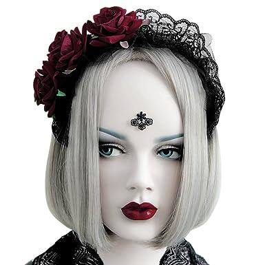 LAEMILIA Serre,Tête Femme Rose Fleur Coiffure Déguisements