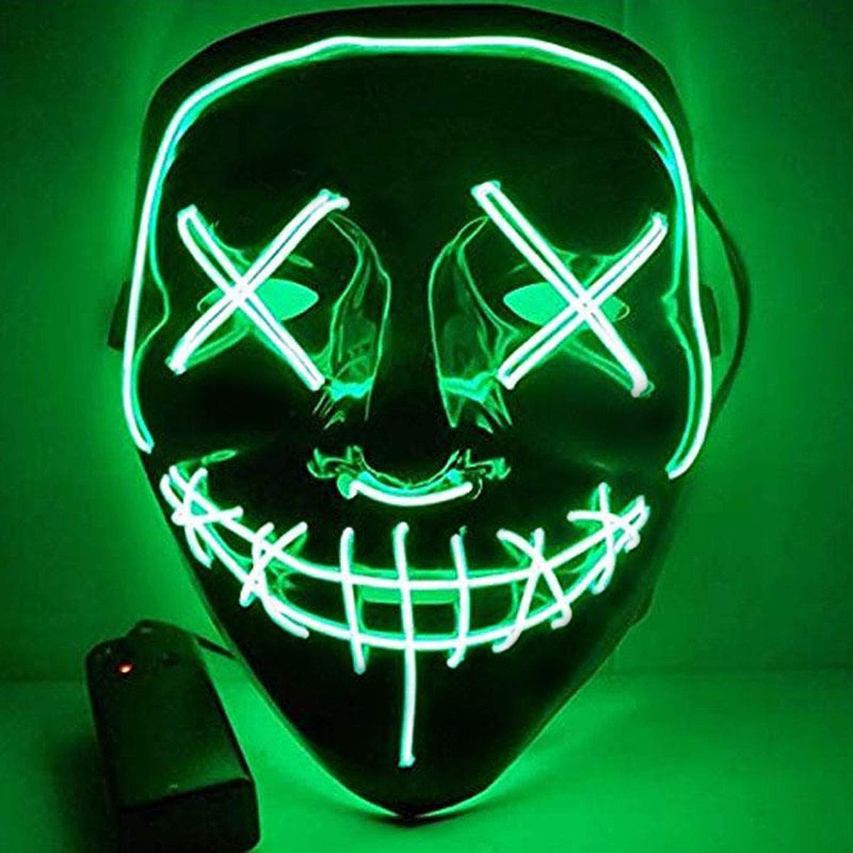 Halloween Mask LED Light Up Mask Halloween Scary Cosplay Mask for Festival Parties Costume