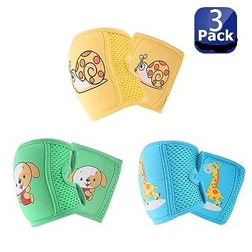Amazon.com: NASHRIO - Rodilleras para bebés (3 pares ...