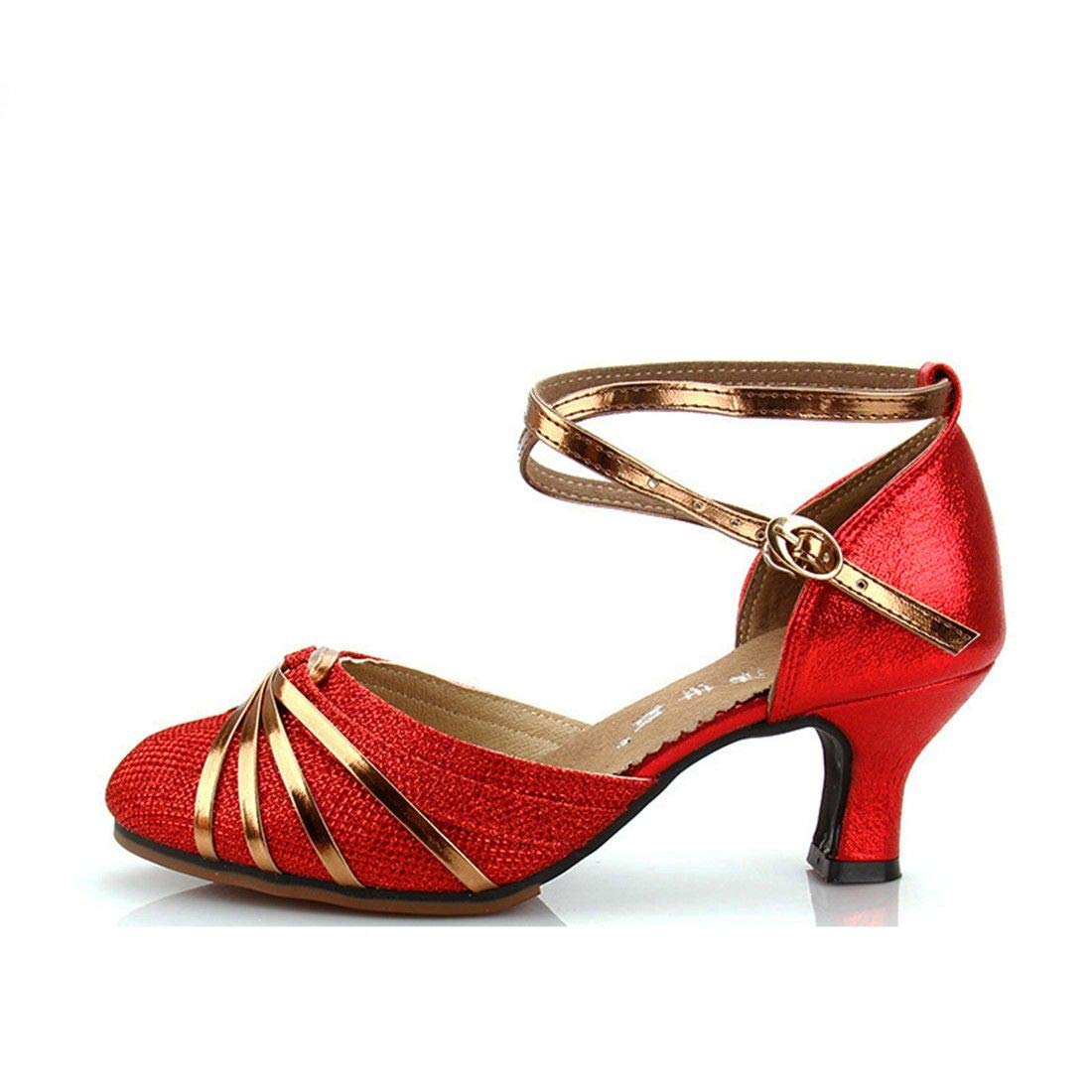 WXMDDN Chaussures Chaussures de Danse Latine carrée Femelle Danse Adulte Femelle à Talons Bas Chaussures de Danse d été Chaussures de Danse carrée Chaussures de Danse Chaussures Sandales Fond Mou Rouge 3e3373e - reprogrammed.space