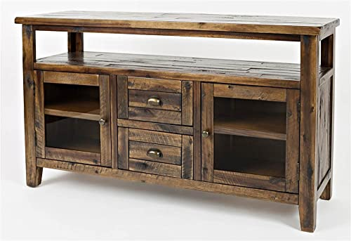Jofran Artisan s Craft Storage Console Dakota Oak, 54 W X 15 D X 30 H, Finish, Set of 1