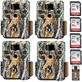 Four Browning STRIKE FORCE PRO Micro Trail Cameras (18MP) with Four 32GB Memory Cards & Focus Card Reader