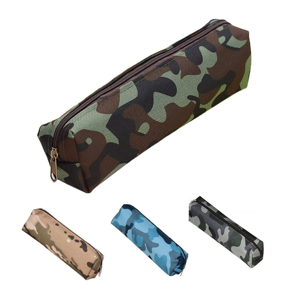 Pencil Case with Zipper Canvas Pencil Pouch for Boys & Girls ...