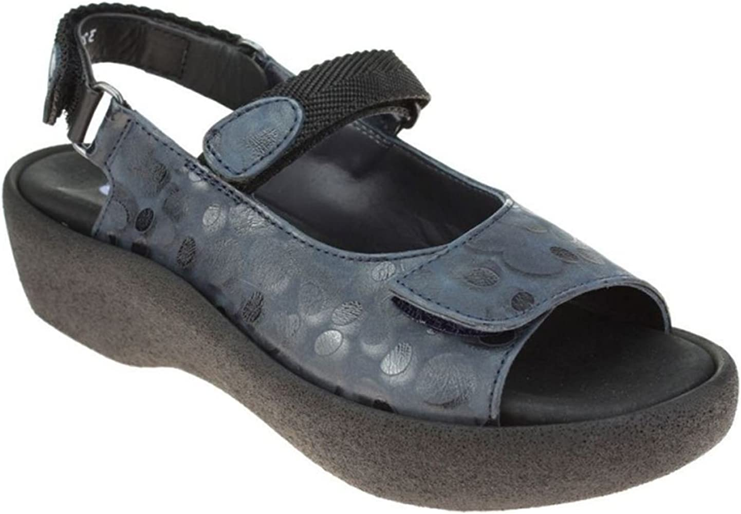Wolky 1300 Salvia Black Womens Sandals