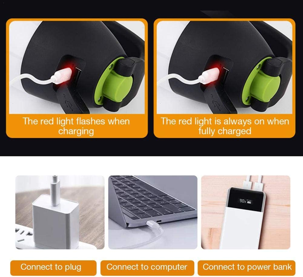 linterna, l/ámpara de escritorio y banco de energ/ía luz de camping 3 en 1,uso multifunci/ón linterna LED con l/ámpara USB Linterna de camping recargable reflector para exteriores senderismo
