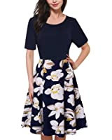 Cestvue Dress with Sleeve Formal Wear to Work Floral Cocktail Women Vintage Dresses