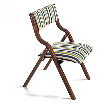 Fold Up Chairs Modern Home Simple Solid Wood Folding Casual Chair Creative  Nordic Adult Backrest Dinette