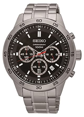 Seiko #SKS519 Mens Stainless Steel Black Dial Chronograph Analog Sports Watch by Seiko Watches