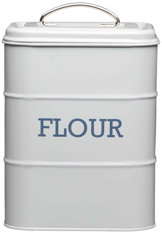 17 x 12 x 24cm Grey Living Nostalgia Flour Canister