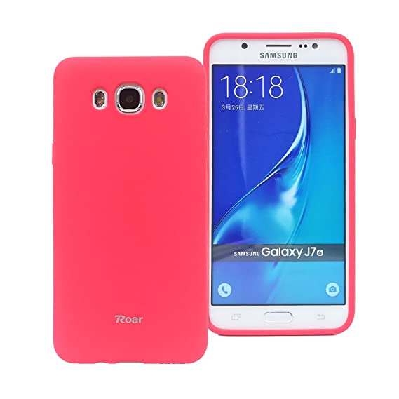 best authentic b262c ebc6f Galaxy J7 (2016) case, Roar Colorful Jelly [True Fit][Full Matte][Smooth  Touch][Non Slip] Snug-fit Rubber Silicone Gel TPU Full Body Soft Case Cover  - ...