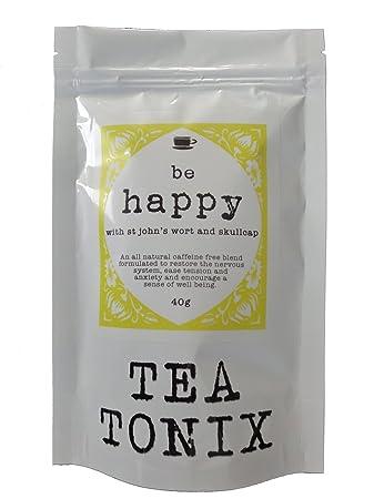 amazon com be happy tea for depression and stress relief with stbe happy tea for depression and stress relief with st john\u0027s wort, vervain,