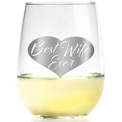 Amazon Com Smart Tart Design Best Wife Ever Wine Glass Romantic