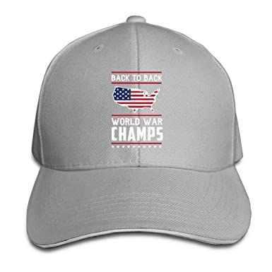 53f9a3d5285 Amazon.com  Women s Men s Back-to-Back World War Champs Adult Adjustable Snapback  Hats Sandwich Cap C9  Clothing