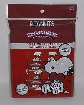 Cacahuetes Snoopy día de San Valentín Sticker – cajas de regalo