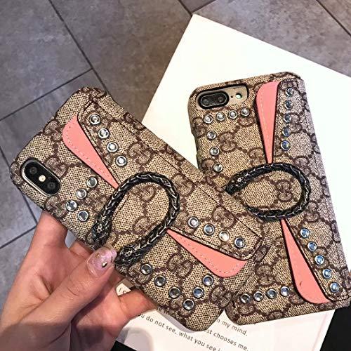 iPhone8 Plus Case, iPhone7 Plus Case, Vintage Elegant Luxury Designer Monogram Dionysus PU Leather Back Wallet Case for iPhone8 Plus iPhone7 - Vuitton Iphone Wallet Louis Case