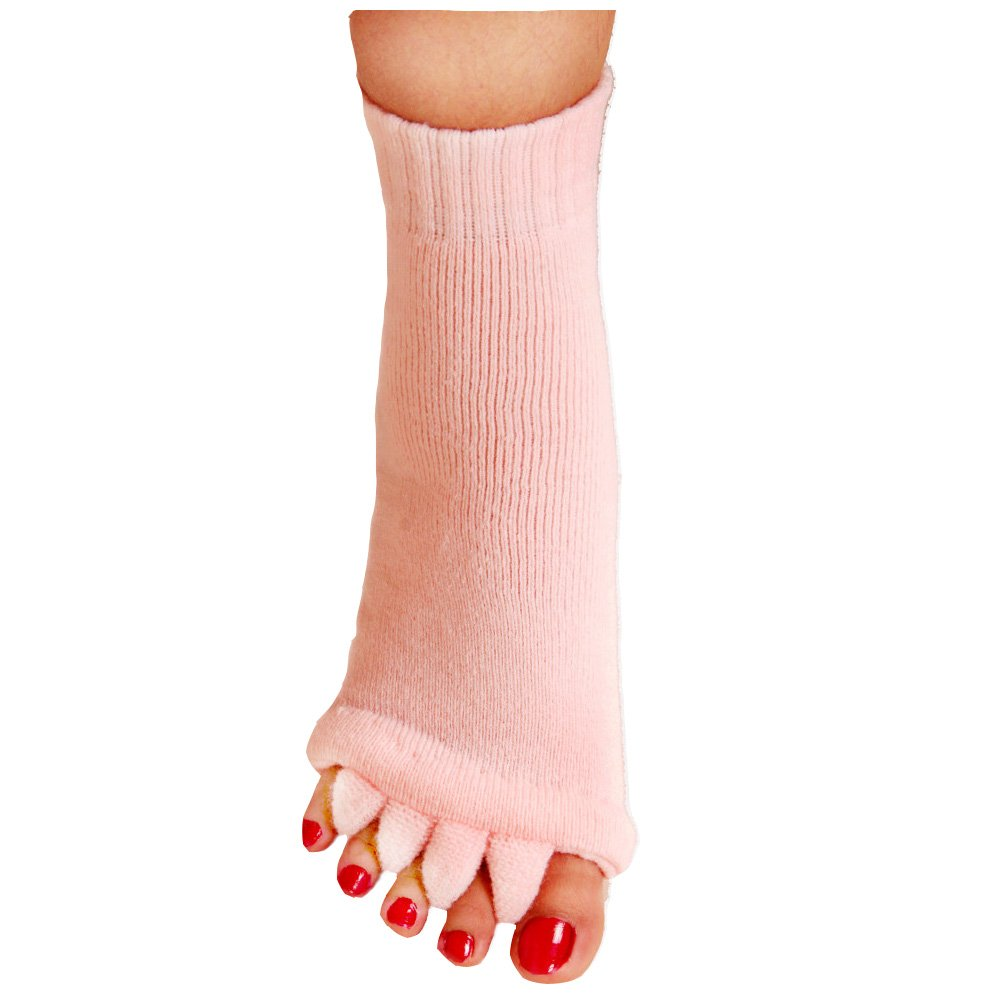 NannyMcPhcc Yoga Gym Massage Five Toe Separator Socks Foot Alignment Pain Relief Hot