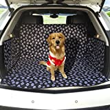 FREESOO Car Boot Liners Protector Waterproof Cargo Pet Dog Back Seat Cover Boot Mat Travel Universal for Cars Trucks SUV Black