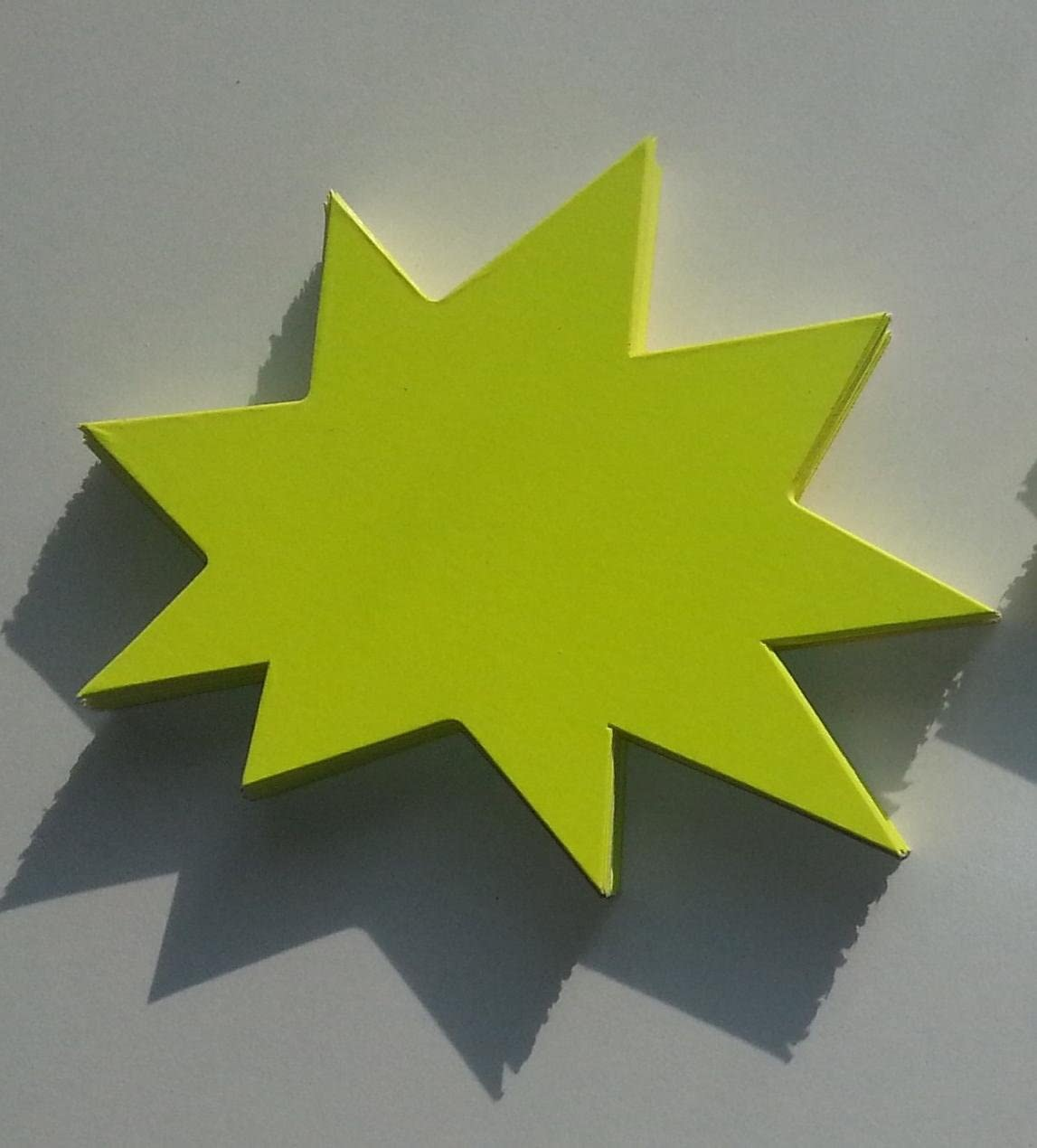 50 Recktecht Preisschilder aus Karton zitronengelb 7,5 x 10,5 cm 380g//qm Werbesymbole f/ür R/äumungsverkauf Sterne