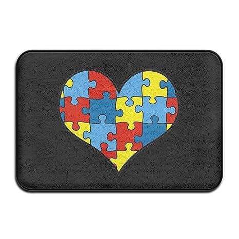 Amazon.com: Concienciación sobre el autismo heartdoormat ...