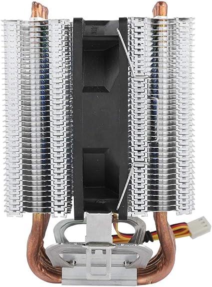 fosa 6 U-Shaped Heatpipe 3Pin Computer CPU Cooling Fan Multi-Platform Adjustable Footrest CPU Cooled Cooling Heat Sink for Intel Lag1156//1155//1150//775 Blue
