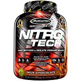 MuscleTech NitroTech Pure Whey Protein, 100% Whey Protein Powder, Whey Isolate and Whey Peptides, Milk Chocolate, 4 Pound