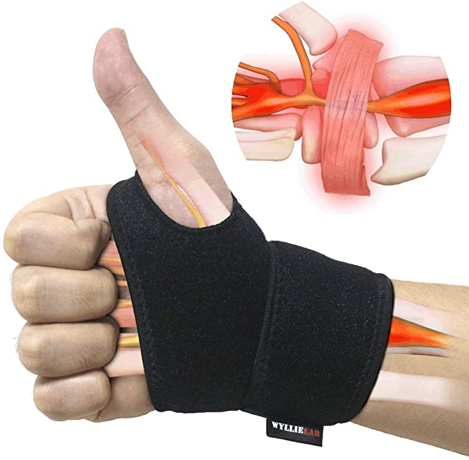 Profession Wrist Support Brace Adjustable Wrist Guard Strap Reversible for Hand Sports Protecting//Tendonitis Pain Relief-Suitable for Both Right and Left Hands Sodeno 2Pack Carpal Tunnel Wrist Braces