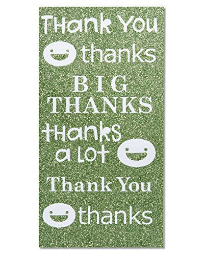 American Greetings Gift Card Holder Thank You Card with Glitter