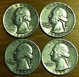 $1.00 Face Value 90% Silver Washington Quarters