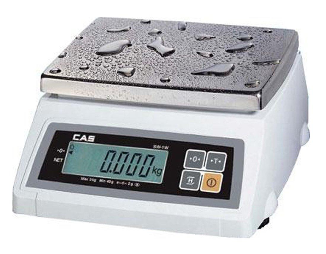 CAS SW-50W(50LB) Washdown Portion Control Scale, 50lb Capacity, 0.01lb Readability