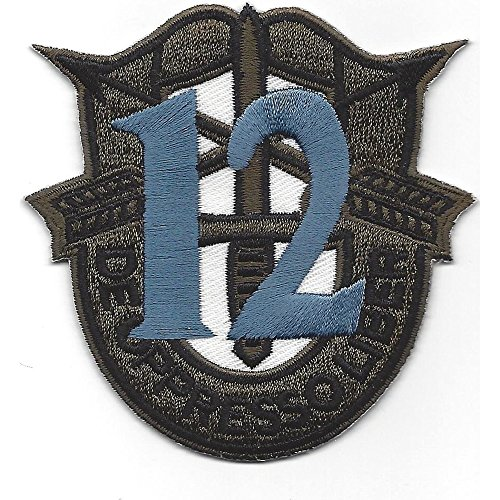 - 12th Special Forces Group Crest OD Green Blue 12 Patch