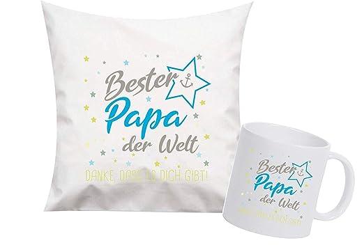 Shirtinstyle, Set de Regalo para Mamá y Papa, Taza, Cojín ...