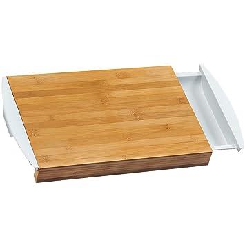 Kesper 58351 Schneidebrett Mit Auffangschalen Aus Bambus Kunststoff