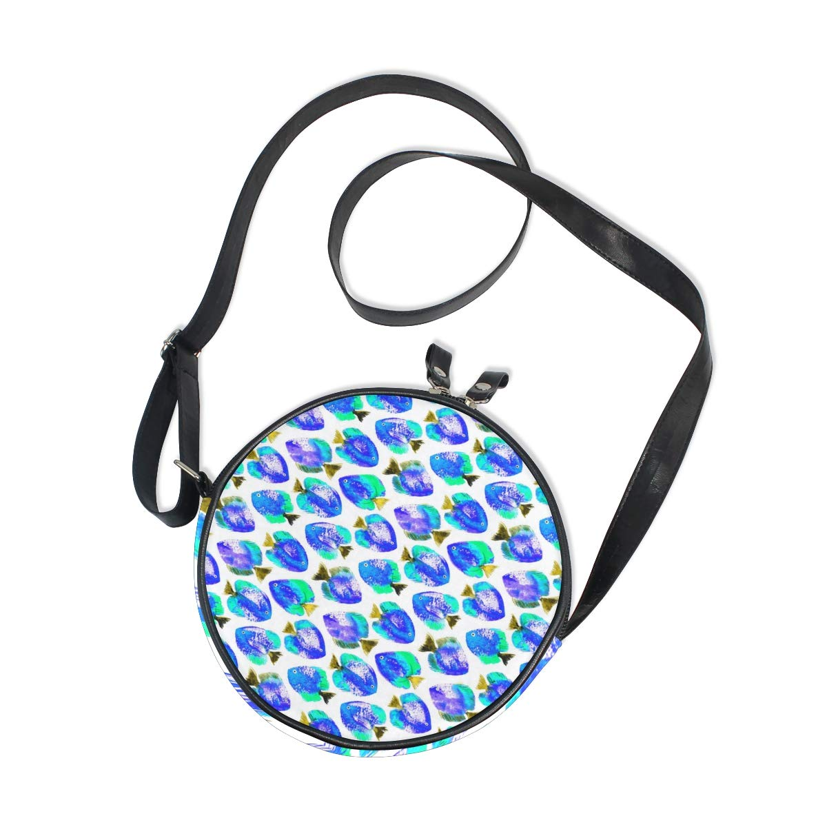 Crossbody Bag Watercolor Discus Pmage Womens Casual Phone Pouch Round Shoulder Bag
