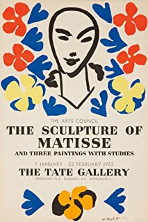 product image for The Sculpture of Matisse - Tate Gallery Vintage Poster (artist: Matisse) France c. 1953 (16x24 Giclee Gallery Print, Wall Decor Travel Poster)