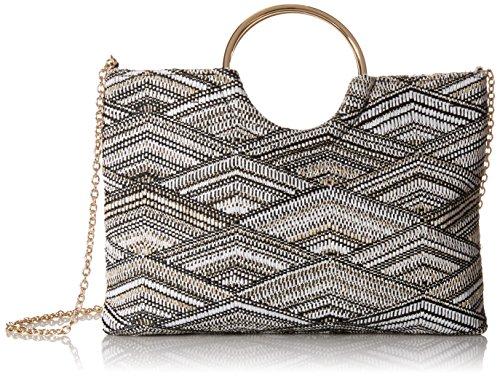 Ring Bag (Jessica McClintock Sonia Ring Bag, black/white)