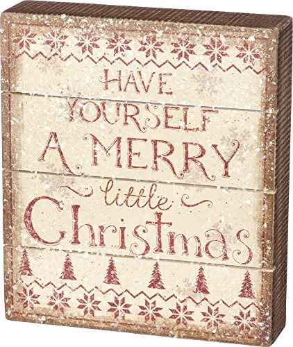 Primitives By Kathy Have Yourself a Merry Little Christmas Slat Sign 7