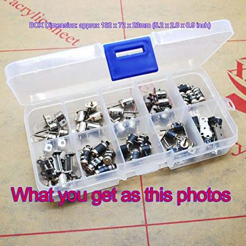 50pcs totally 5pcs each of 10 types 4 Wire 2 Phase dc micro stepper motor dc 3v-5v Mini stepper motor stepping motor Assorted box for camera](Miniatures Motor)