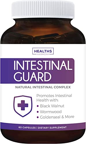 Intestinal Guard Non-GMO Intestinal Support for Humans – Wormwood Black Walnut – 60 Capsules