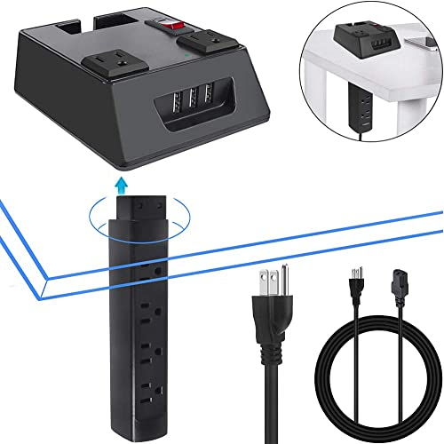 Office Power Strip Table Mount Recessed Surge Protector