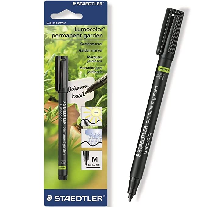 94ef8d43530 STAEDTLER GARDEN MARKER PEN PERMANENT OUTDOOR MARKER -  Pack of 2    Amazon.co.uk  Office Products
