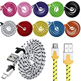 Aobiny Charge Cable 10x Braided Micro USB Charge Cable For Galaxy S7 Edge Android Charger