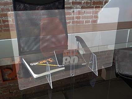 Mampara portatil transparente anti contagio y protección, facil de transportar, separador para mostrador, mesas, oficinas y comercios: Amazon.es: Oficina y papelería