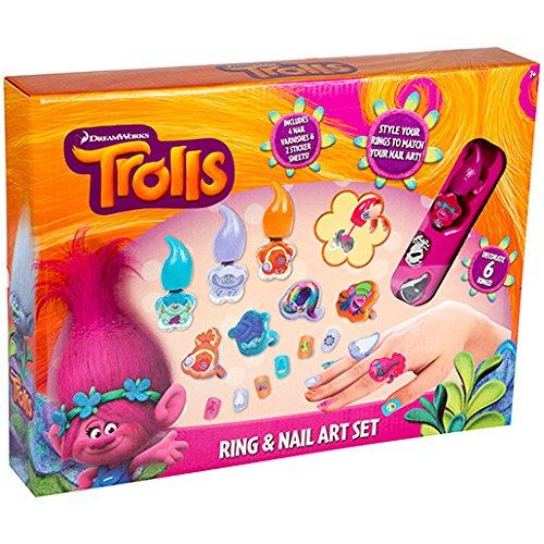 Trolls Ring And Nail Art Set