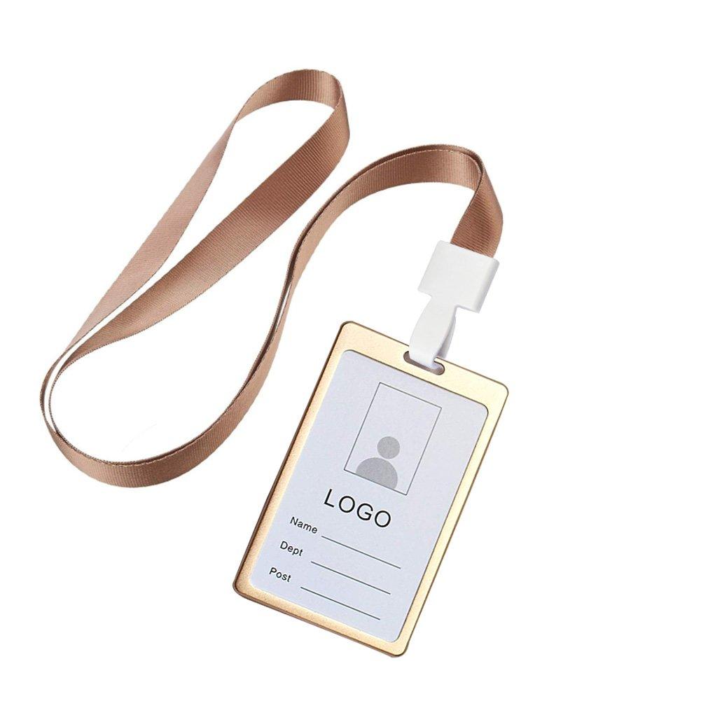 Amazon.com: ayhu Metal doble cara tarjeta identificativa con ...