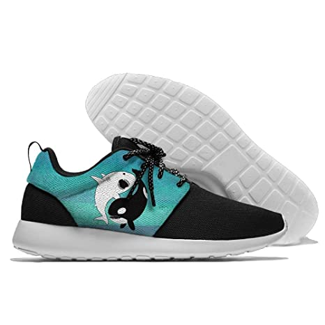 Kawaii Yin Yang Narwhals Lightweight Breathable Casual Sports Shoes Fashion Sneakers Shoes