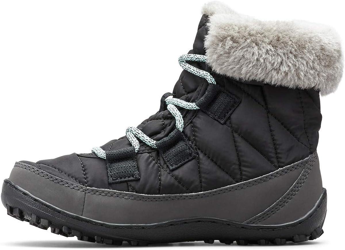 Negro Black Spray Columbia Minx Shorty Omni-Heat Botas de nieve impermeables para ni/ña 36 EU