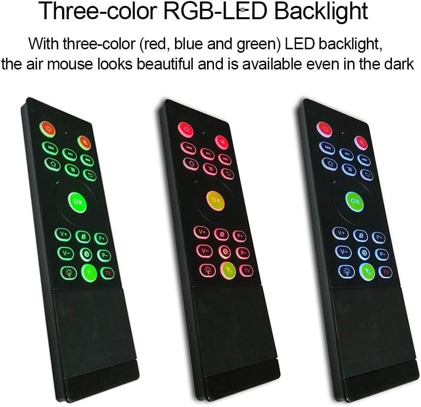 Ochoos Teclado Retroiluminación Inalámbrico Touchpad Air Mouse RGB LED 6 Axis Sensor Gyroscope IR Aprendizaje para Android TV Box Smart TV PC Laptop: Amazon.es: Bricolaje y herramientas