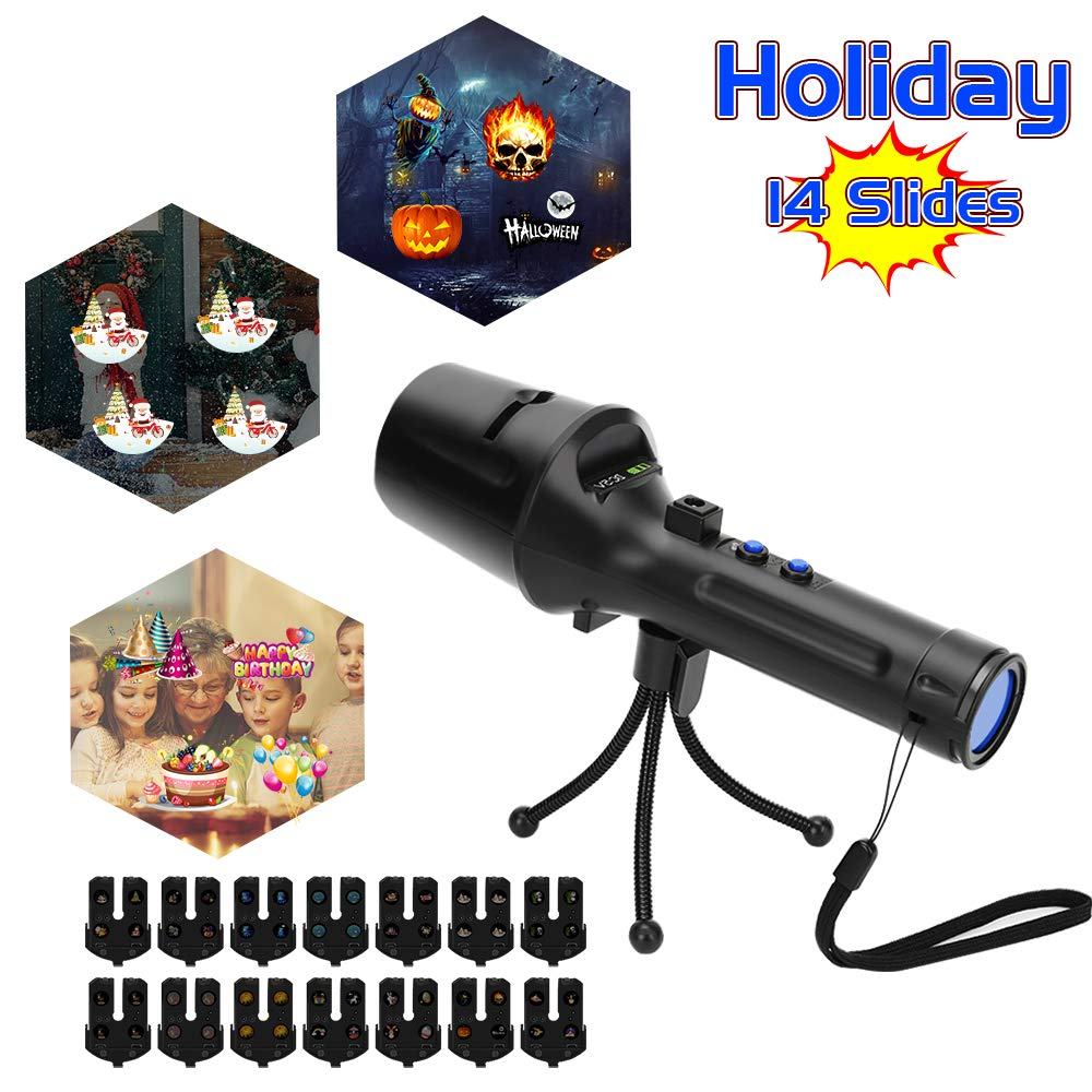 Elec3 Christmas Halloween Projector Light for Lighting Decorations (5W Projection Flashlight)